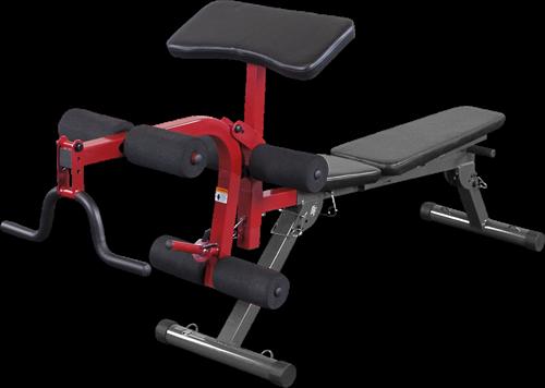 Body-Solid (Best Fitness) Leg Developer & Preacher Curl Uitbreiding - Rood