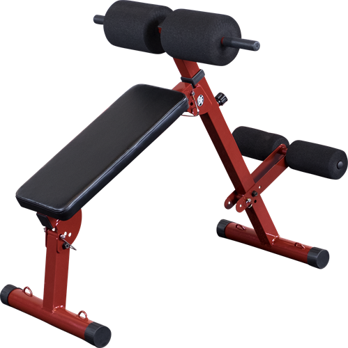 Body-Solid (Best Fitness) Ab Board Hyperextension - Rood - Tweedekans