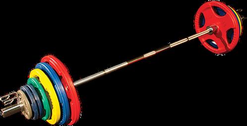 Body-Solid Olympische Halterset - Gekleurd Rubber - 250 kg