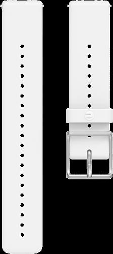 Polar Ignite Verwisselbare Silliconen Polsband - Wit/Zilver