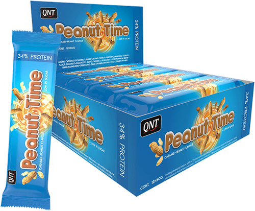 QNT Peanut Time Bar Caramel Peanut - 12 repen