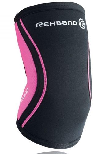 Rehband Elleboogbrace RX 5MM - Black/Pink