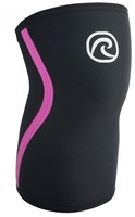 Rehband Kniebrace RX 7MM Black/Pink Stripes
