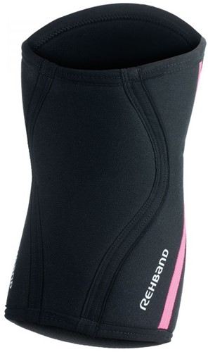 Rehband Kniebrace RX 7MM Black/Pink Stripes-3