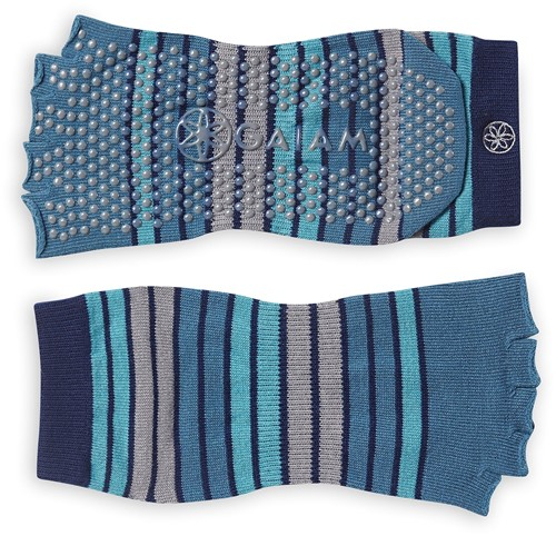 Gaiam Grippy Toeless Yoga Socks - Anti-slip Yogasokken - Skyline