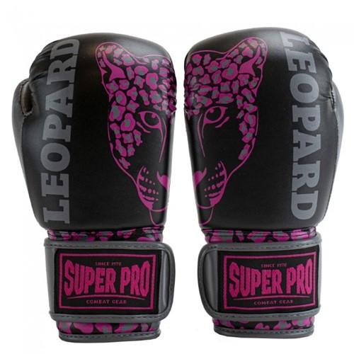 Super Pro Leopard Kids Bokshandschoenen - Zwart/Roze
