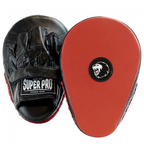 Super Pro Flat Hook and Jab Lederen Handpads