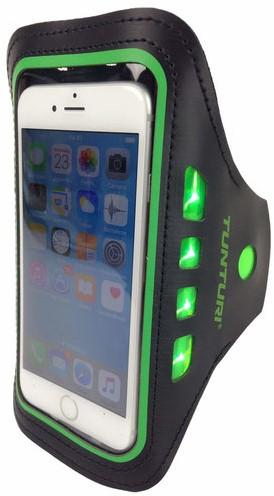 Tunturi LED Telefoon Sport Armband - Groen