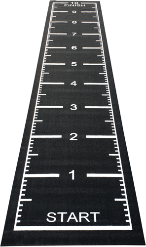 Sprinttrack Kunstgras - 1050 x 200 x 1,6 cm - Zwart
