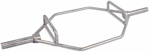 Lifemaxx Olympic Hex Bar - Geborsteld Staal - 140 cm - Tweedekans
