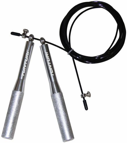 Tunturi Verstelbaar Stalen Springtouw - Aluminium Handvaten
