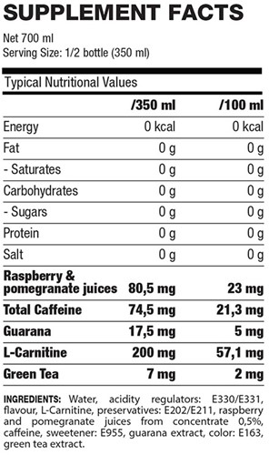 QNT Thermo Booster - 24x700ml - Red Fruits-2