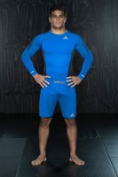 Adidas Transition MMA Short Blauw Beluga-3