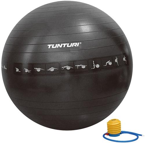 Tunturi Anti-Burst Fitnessbal Gymbal Zwart - 65 cm