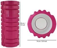 Tunturi Yoga Foam Grid Roller - Roze-3