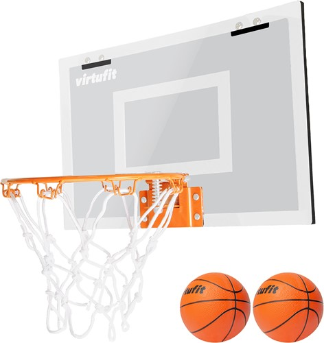 VirtuFit Pro Mini Basketbalbord met 2 Ballen en Pomp - Wit