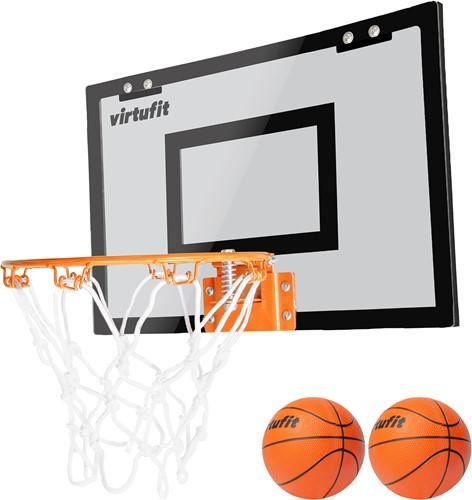 VirtuFit Pro Mini Basketbalbord met 2 Ballen en Pomp - Zwart