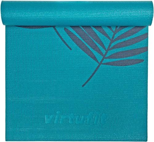 VirtuFit Premium Yogamat - 183 x 61 x 0,6 cm - Ocean Green Forest