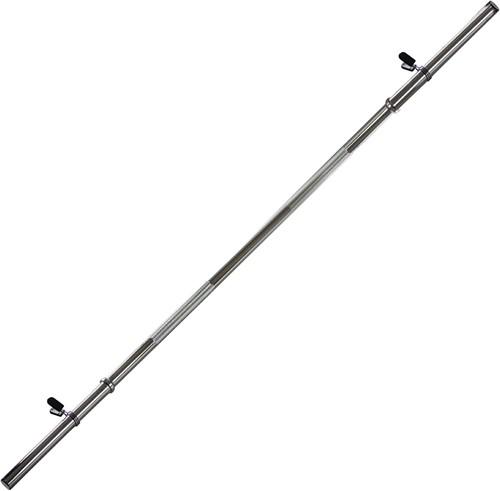 VirtuFit Halterstang - 120 cm - Veerclipsluiting - 30 mm