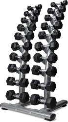 VirtuFit Dumbellrek staand Deluxe + Hexa Dumbells 1 t/m 10 kg