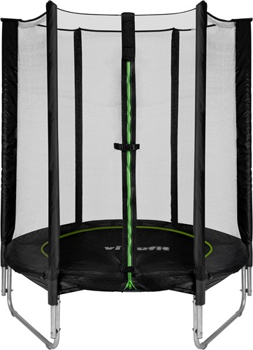 VirtuFit Kindertrampoline met Veiligheidsnet - Zwart - 140 cm