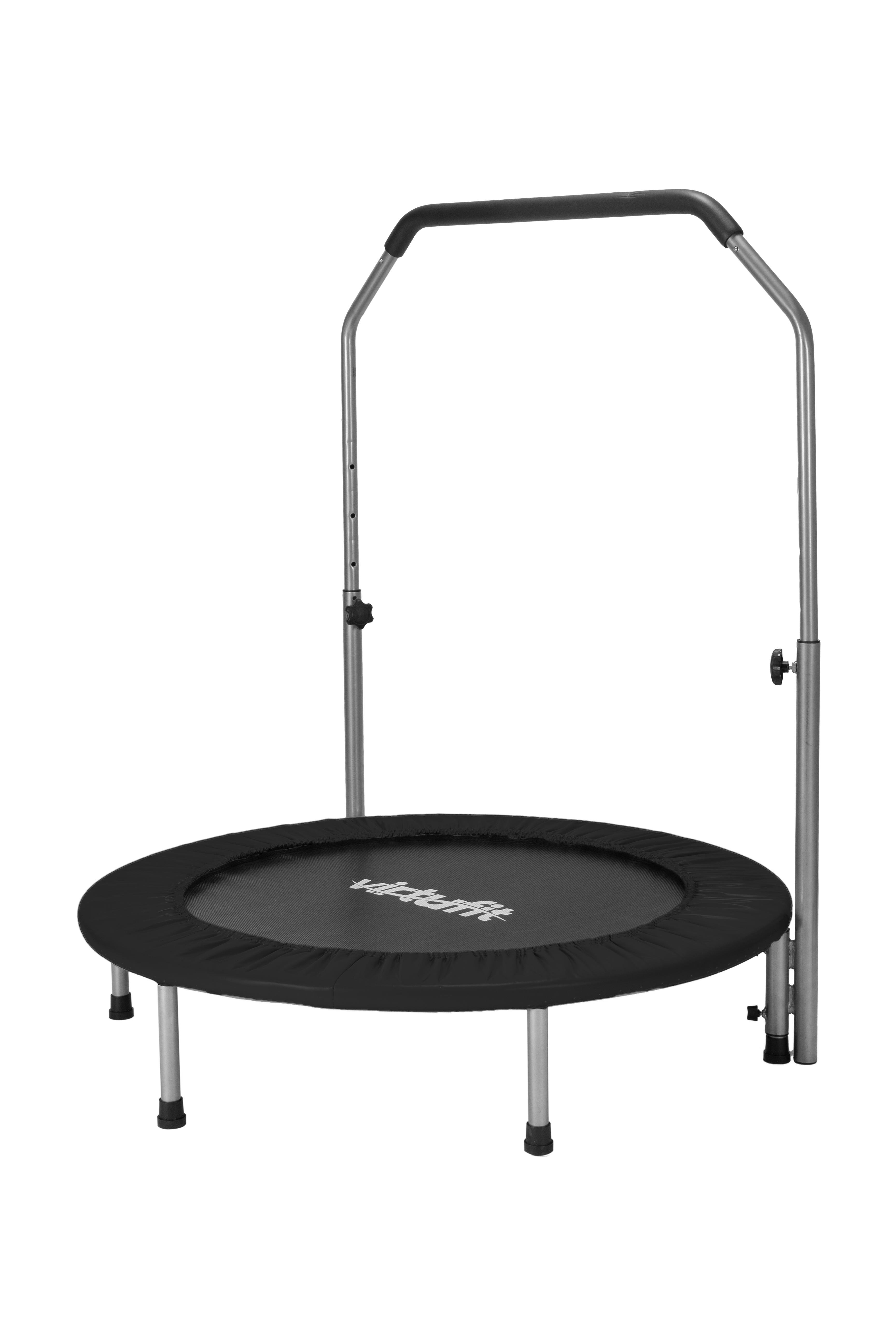 VirtuFit Fitness Trampoline Pro met Verstelbaar Handvat 100 cm Zwart