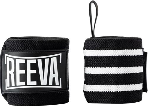 Reeva Elastische Wrist Wraps - Zwart / Wit
